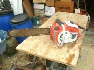 VINTAGE CRAFTSMAN  3.7  COLLECTOR CHAINSAW W/ BAR CHAIN PARTS OR REPAIR NO SPARK