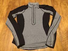 Lululemon Run U-Turn Pullover Reversible Classic Stripe Polar Haze Black