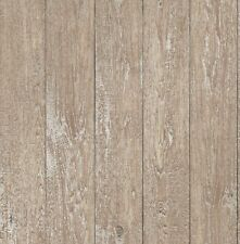 finedecor Papier peint - Mezzanine panneau en bois - métallique or effet -