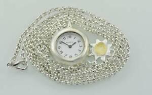 Fossil Chic Collar Plata Blanco Acero Inoxidable Fácil Leer Wr Reloj de Cuarzo