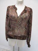 VERO MODA  Damen Bluse Tunika Transparent Mehrfarbig Langarm Gr. L