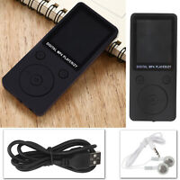 32GB MP3 Spieler HiFi Bass Musik Player FM Radio LCD Display mit Headset