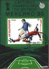 Bulgaria Blocco 155 (completa Edizione) usato 1985 Calcio-WM, Messico 1986