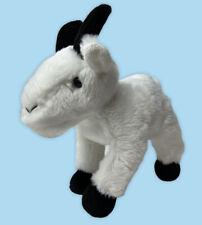 """Aurora Mini Flopsy Rocky Mountain Goat Plush Stuffed Animal 7"""" White Farm Animal"""