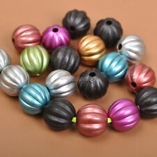 100PCS  charm plastic pumpkin space beads Jewelry Findings bead 10MM