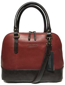 NWT Tignanello Bleecker St. Accordian Satchel, Rouge/Brown, MSRP: $175.00