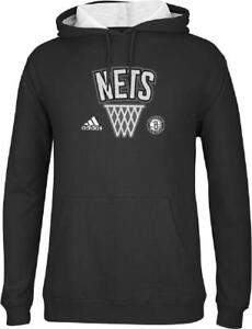 Adidas ~ Brooklyn Nets Men's Playbook Hooded Sweatshirt $55 NWT