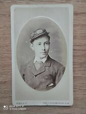 Antique Cdv photo young man soldier uniform Rees London