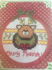 NIP SEALED VTG NEW BERLIN CO BEARLY CHRISTMAS ORNAMENT COUNTED CROSS STITCH KIT