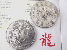 CHINESE DRAGON ONE DOLLAR SILVER PLATE COIN ZODIAC ANIMAL SIGN NEW YEAR PARTY Y3