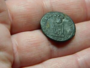Un Researched Roman Bronze coin Emperor ? Altar Votis Metal detecting detector