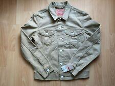 LEVI'S Veste en Jeans Trucker Rinse Slim Levis Homme 100% NEUF Beige / Marron