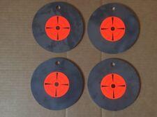 (4)pc. 3/16 INCH X 6 INCH PISTOL/RIFLE METAL SINGLE HOLE SHOOTING TARGETS