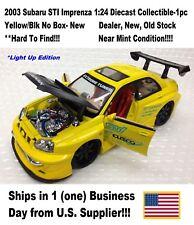 2003 Subaru STI Imprenza 1:24 Diecast Collectible-1pc Yellow/Blk No Box- New