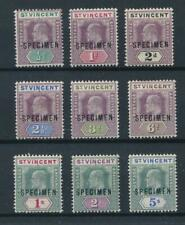 [55424] St-Vincent 1902 good set MH Very Fine SPECIMEN stamps $200