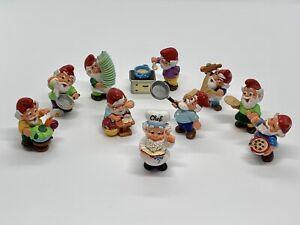 Kitchen Gnomes - SET Kinder Surprise figures 1999 Ferrero Hand Painted Dwarfs