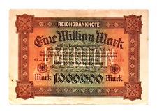 1923 Germany Weimar Republic 1.000.000 /  1 Million Mark Banknote