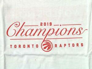 NWOT Toronto Raptors 2019 NBA Champions SMIRNOFF Vodka White Red T SHIRT LARGE