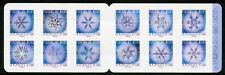 France 2018 MNH Snowflakes under Microscope 12v S/A Booklet Science Stamps