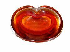 Apple shaped Murano Hashtray / cendrier  Murano  pomme dégradés orangés