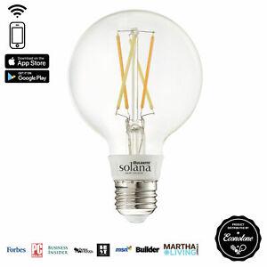 LED Smart WiFi Globe Filament G25 Light Bulb 40 Watt Equivalent Medium E26 Base