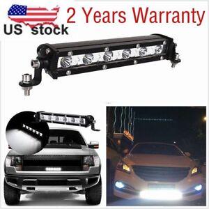 18W Spot Beam Slim Single Row LED Work Light Bar Offroad Truck SUV Driving