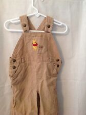 Disney Pooh Infant  Baby overalls boys 6-9 mo cords with pooh embroidery