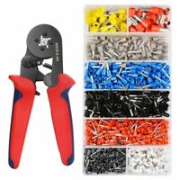 Crimper Plier Set 0.25-10mm2 Self-adjustable Ratchat Wire Crimping Tool wit Y8N4