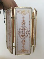 Vintage retro 1980s panel gold light shade Ceiling Pendant Lampshade Flower