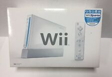 Nintendo Wii White Console w/New Super Mario Bros Game-In Box-Tested USED! #110