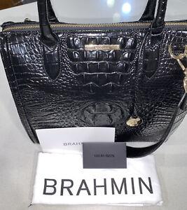 🐊Brahmin - NWT  $345 Caroline Black Melbourne Genuine Leather