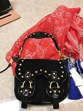 Alexis Hudson Black Suede And Patent Bag So Cute