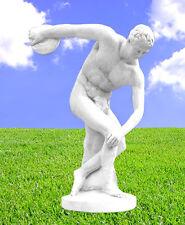 Steinfigur Diskuswerfer Diskobolos Gartenfigur Skulptur Steinkunst BLACKFORM