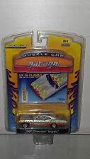 1/64 GREENLIGHT MUSCLE CAR GARAGE UP IN FLAMES 1967 IMPALA SILVER B22