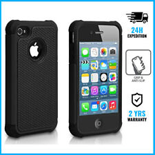 Hybrid Armor Cover Cas Coque Etui Silicone TPU Hoesje Case Black For iPhone 4/4S