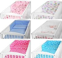 BABY NURSERY BEDDING SET FIT 140x70 COT BED 2 3 5 6 PC BUMPER PILLOWCASE DUVET