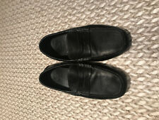COLE HAAN BLACK LEATHER DRIVERS 10M