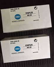 (2) Boxes Genuine Konica Minolta Staples 14YA MS-5D #502KM 4623361 MS5D