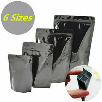 Aluminum Foil Mylar Black Bag Heat Sealer Food Storage Zip Lock Pouch Package