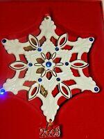 LENOX - 2009 - Gemmed Annual Snowflake Jeweled Christmas Tree Holiday Ornament