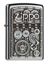 Zippo essence briquet Gear Wheels Emblème 2004497 Nouveau neuf dans sa boîte