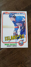 1981-82 TOPPS SIGNED AUTO CARD MIKE BOSSY NEW YORK ISLANDERS HALL OF FAME # 4