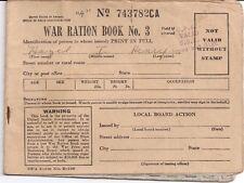 War Ration Book Three Hazel I. Henry ROANOKE Virginia
