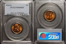 1954-S Lincoln Cent  PCGS MS66 Red  #3460
