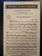 Church Choral Sheet Music Easter: The Resurrection (Young) Satb 10 Copies