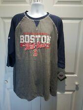 Stiches BOSTON RED SOX Men Basebal Shirt Sz XL Gray Raglant Style SHIRT NWT MLB