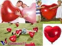 BALLON ROUGE GRAND MODELE 75CM DECORATION MARIAGE SAINT VALENTIN