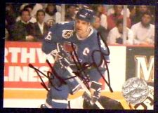 Mike Hough Quebec Nordiques 1991-92 Pro Set Platinum Proset Signed Card