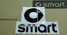 Genuine Smart Black emblem logo sticker hood + Trunk NEW Smart ForTwo BM 451
