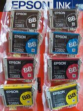 8p(2sets) GENUINE EPSON 88 INK_T0881-T0884_CX4400/CX7400/NX100_TO88_T088120BCS